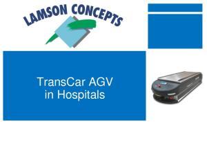 TransCar AGV in Hospitals