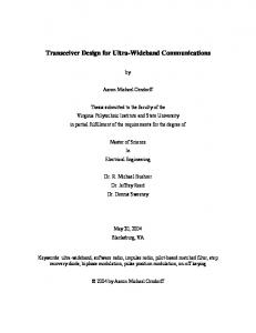 Transceiver Design for Ultra-Wideband Communications