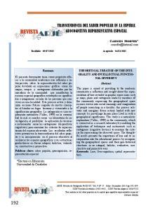 TRANSCENDENCIA DEL SABER POPULAR EN LA ESPIRAL GEOCOGNITIVA REPRESENTATIVA ESPACIAL