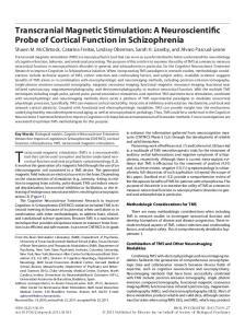 Transcranial magnetic stimulation (TMS) is a neuroscientific