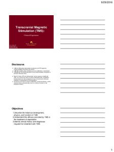 Transcranial Magnetic Stimulation (TMS):