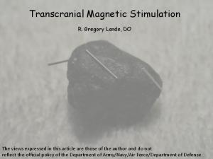 Transcranial Magnetic Stimulation