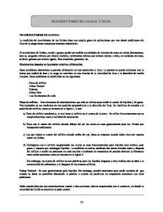 TRANSDUCTORES DE CAUDAL Y NIVEL