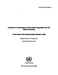 Transfer of Technology for Successful Integration into the Global Economy