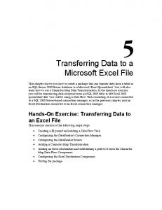 Transferring Data to a Microsoft Excel File