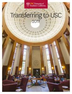 Transferring to USC 2017 i