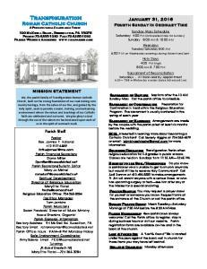 Transfiguration Roman Catholic Church A Pennsylvania Charitable Trust