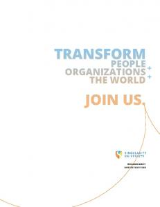 TRANSFORM JOIN US. PEOPLE ORGANIZATIONS THE WORLD + +