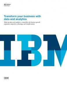 Transform your business with data and analytics