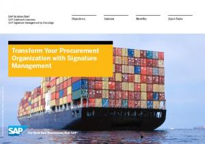 Transform Your Procurement Organization with Signature Management