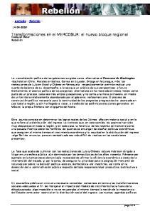 Transformaciones en el MERCOSUR: el nuevo bloque regional