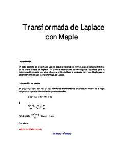 Transformada de Laplace con Maple