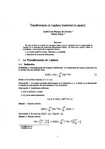 Transformada de Laplace (material de apoyo)