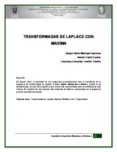 TRANSFORMADAS DE LAPLACE CON MAXIMA