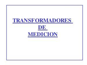TRANSFORMADORES DE MEDICION