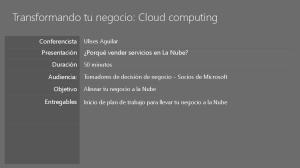 Transformando tu negocio: Cloud computing