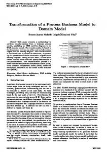 Transformation of a Process Business Model to Domain Model