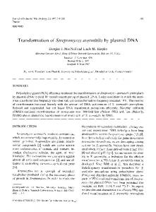 Transformation of Streptomyces avermitilis by plasmid DNA