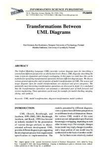 Transformations Between UML Diagrams