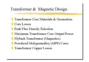 Transformer & Magnetic Design