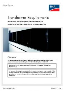 Transformer Requirements