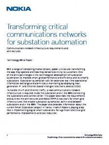 Transforming critical communications networks for substation automation