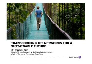 TRANSFORMING ICT NETWORKS FOR A SUSTAINABLE FUTURE