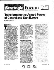 Transforming the Armed Forces of Central and East Europe