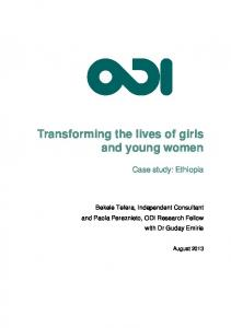 Transforming the lives of girls and young women