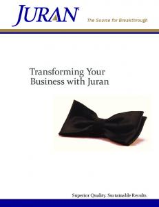 Transforming Your Business with Juran