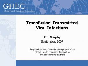 Transfusion-Transmitted Viral Infections
