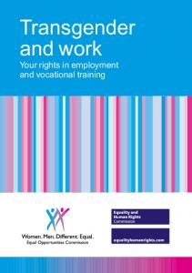 Transgender and work. Your rights in employment and vocational training