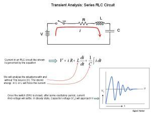 Transient Analysis: Series RLC Circuit