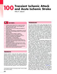 Transient Ischemic Attack and Acute Ischemic Stroke