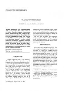 TRANSIENT OSTEOPOROSIS