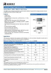 Transient Voltage Suppressors Diodes