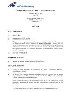 TRANSIT PLANNING & OPERATIONS COMMITTEE AGENDA
