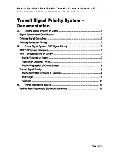 Transit Signal Priority System Documentation