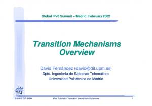 Transition Mechanisms Overview