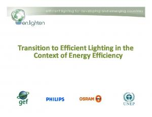 Transition to Efficient Lighting in the Context of Energy Efficiency