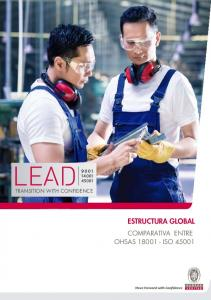 TRANSITION WITH CONFIDENCE ESTRUCTURA GLOBAL COMPARATIVA ENTRE OHSAS ISO 45001