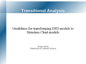 Transitional Analysis