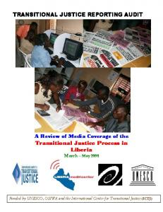 TRANSITIONAL JUSTICE REPORTING AUDIT
