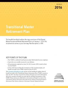 Transitional Master Retirement Plan