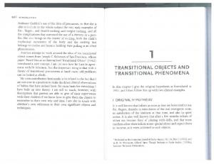 TRANSITIONAL OBJECTS AND TRANSITIONAL PHENOMENA