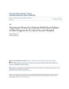 Transitions Home For Patients With Heart Failure: A Pilot Program At A Critical Access Hospital