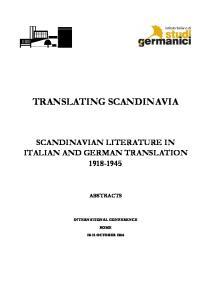 TRANSLATING SCANDINAVIA