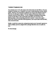 Translator s Explanatory note: