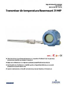 Transmisor de temperatura Rosemount 3144P
