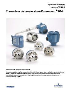 Transmisor de temperatura Rosemount 644